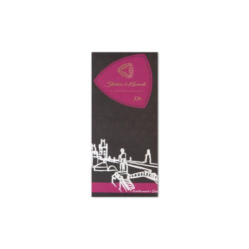 steiner kovarik kanadische cranberrie - Zartbitter-Schokolade mit kanadischen Cranberries (50g)