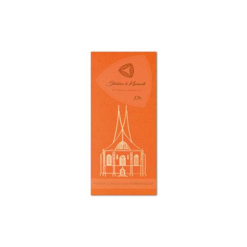 steiner kovarik kandierte orangenschale - Zartbitter-Schokolade mit kandierten Orangen (50g)